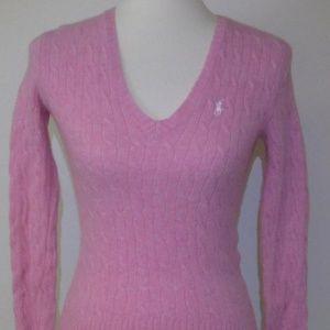 Ralph Lauren Pink Wool Sweater Sz M